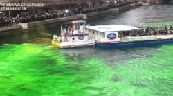 Les plombiers de Chicago ont teint la rivière en vert avec leur produit secret pour la