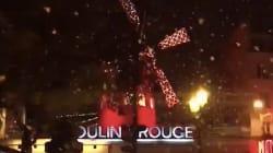 Les premiers flocons de neige sur Paris ont mis en joie les