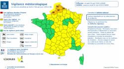 Six départements en vigilance orange pour orages et