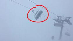 Coincés dans un télésiège, ces skieurs ont vécu l'enfer pendant une