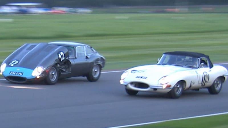 Flip Up Jaguar Hood Makes Overtaking Difficult At Goodwood Autoblog