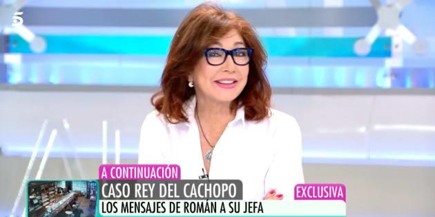 La presentadora Ana Rosa Quintana, en el programa del 27 de noviembre de 2018.