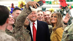 Donald Trump visita tropas estadounidenses en