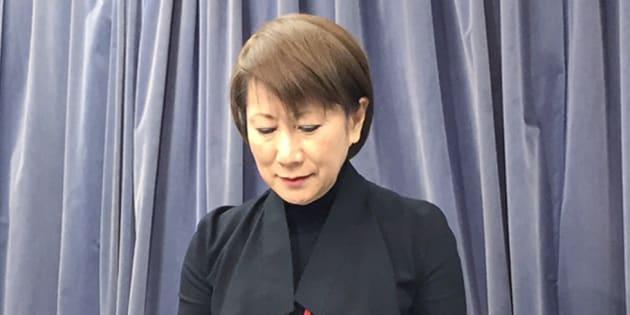 格安旅行会社「てるみくらぶ」の山田千賀子社長(当時)=2017年3月