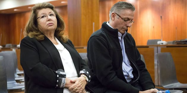 La dueña de la protectora y su empleado, durante el juicio, en una imagen de archivo.