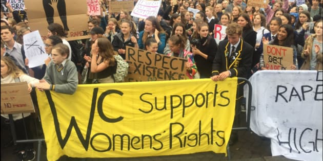 Hundreds took to the streets outside the NZ Parliament building to protest on Monday.