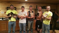Groomsmen Adopt Adorable Puppies Who Crashed Their Bachelor