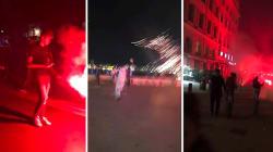 Les images de l'après-match mouvementé à Marseille,
