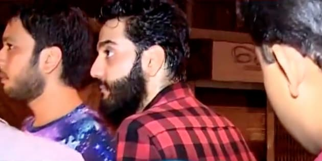 Shivang Nath, son of actor Alok Nath, in a screen-grab from a TV news report.