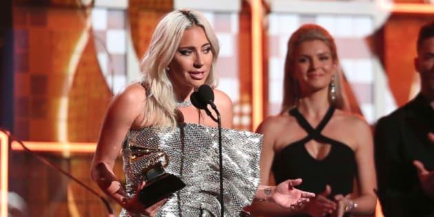 Lady Gaga en los Grammys 2019.
