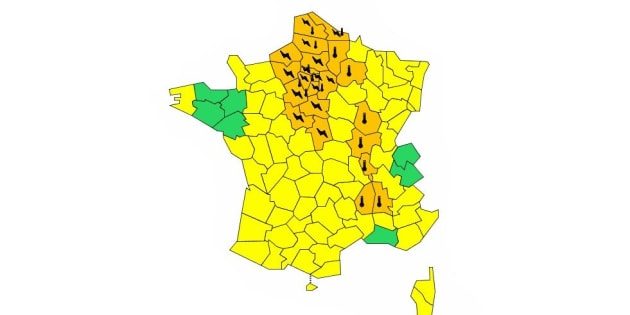 Orages et canicule: Météo-France place 25 départements en vigilance orange