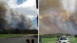 Cet impressionnant feu de forêt en Australie a détruit des dizaines