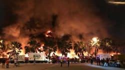 Les images du gigantesque incendie près de l'aéroport de Penang en