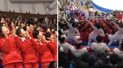 Cette armée de pom-pom girls nord-coréennes a volé la vedette aux hockeyeuses sur