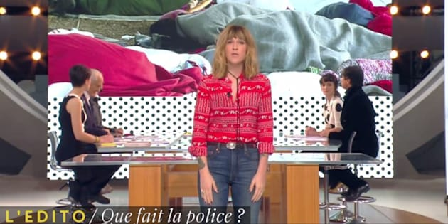 Daphné Bürki pousse un coup de gueule contre les policiers qui ont confisqué les couvertures des migrants