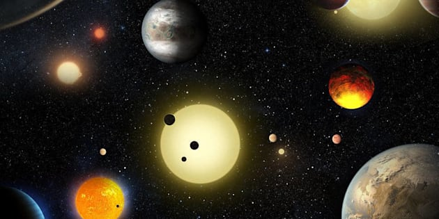NASA announced the discovery of 1,284 planets by detecting their movements in front of a brighter star.