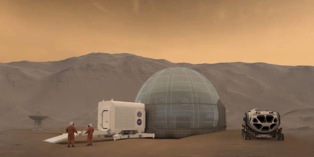 """Voici le concept du """"Mars Ice Dome"""""""