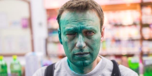 L'opposant russe Alexeï Navalny à nouveau aspergé de colorant vert