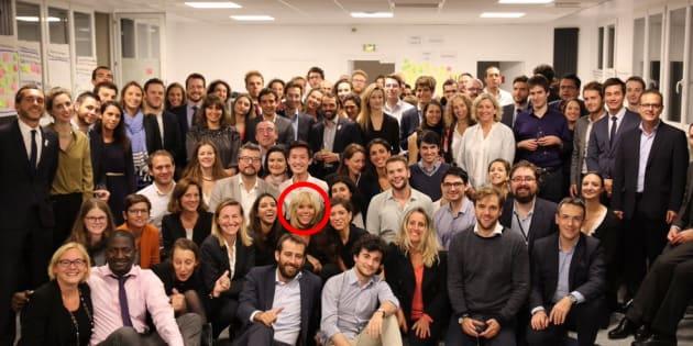 Brigitte Macron inaugure les nouveaux locaux de La République en marche