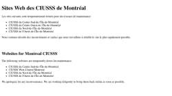 Des CIUSSS de Montréal victimes d'une