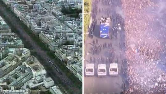 On a comparé le temps passé des Bleus sur les Champs-Élysées en 2018 et