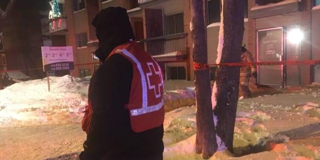 La Croix-Rouge a été demandée sur les lieux pour venir en aide aux sinistrés.