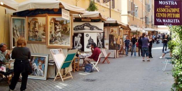"""Tornano i """"Cento pittori"""" a via Margutta: dal 27 aprile al 1"""