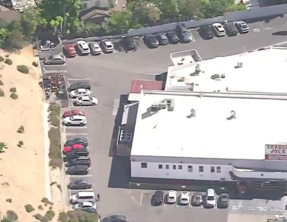Suspected gunman barricaded in LA grocery store