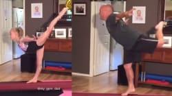Sa fille fait de la gymnastique, il veut tout faire comme elle. Enfin, il
