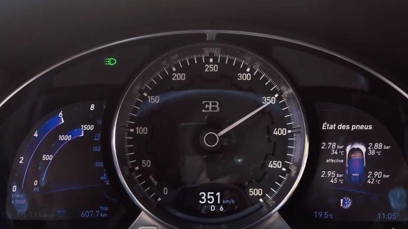watch a bugatti chiron speedometer hit 218 mph autoblog