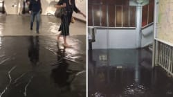 À Paris, des stations de métro inondées, la ligne 1 et le RER C