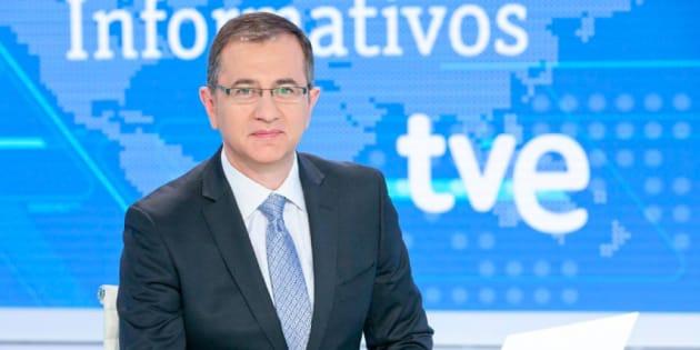 Pedro Carreño, al frente del Telediario de fin de semana de TVE.