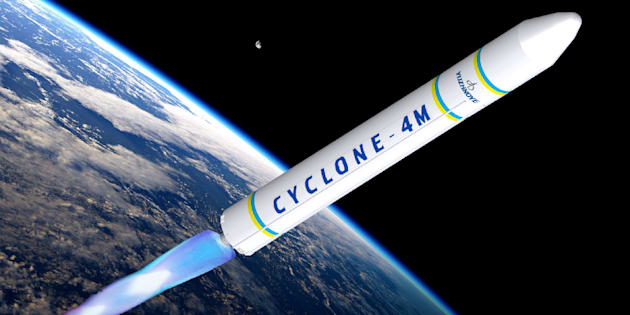 A rendering of a Cyclone 4M rocket, of the sort that could one day be launched into space from a spaceport in Canso, N.S.