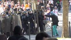 Le cortège de la manifestation antigouvernementale à Paris émaillé de
