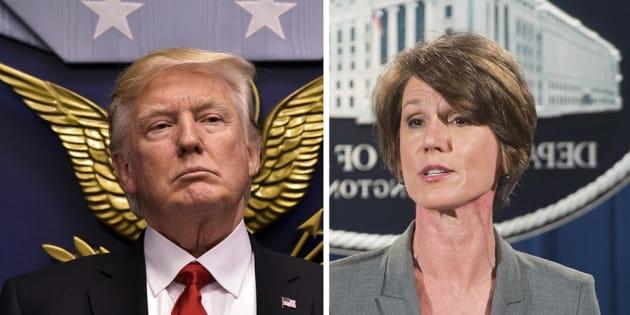 """La ministre de la Justice par intérim Sally Yates juge le décret anti-immigration illégal, Trump la renvoie pour """"trahison"""""""