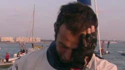 Les larmes d'Armel Le Cléac'h à l'arrivée du Vendée