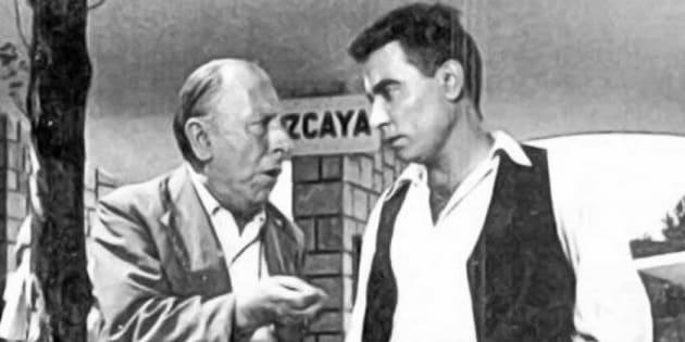 Pepe Isbert y Pedro Beltrán durante una escena.