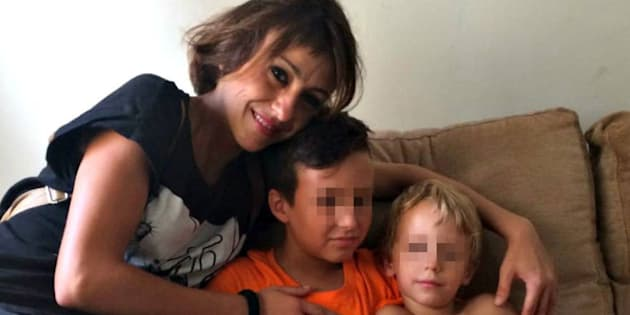 Juana Rivas, con sus hijos, en una imagen de archivo.