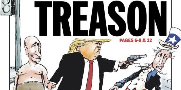 """""""Folie"""", """"indignité"""", """"trahison""""... Les États-Unis scandalisés par les propos de Trump aux côtés de Poutine"""