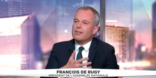 """François de Rugy nie la cacophonie à l'Assemblée, mais parle de """"bizutage""""."""