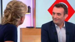 Florian Philippot félicite Anne-Sophie Lapix pour son nouveau