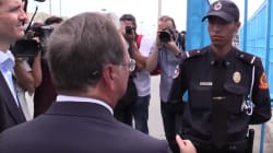 El policía marroquí que negó el saludo al presidente de Ceuta durante la visita de