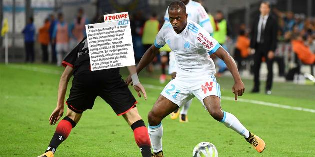 """Après Marseille-Rennes, """"L'Équipe"""" a démonté Patrice Evra mais le journal n'est pas le seul"""