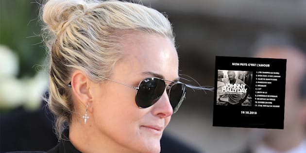 """Laeticia Hallyday évoque les """"trahisons"""" de Johnny à l'écoute du titre """"Pardonne-moi"""" issu du dernier album du rockeur """"Mon pays c'est l'amour""""."""