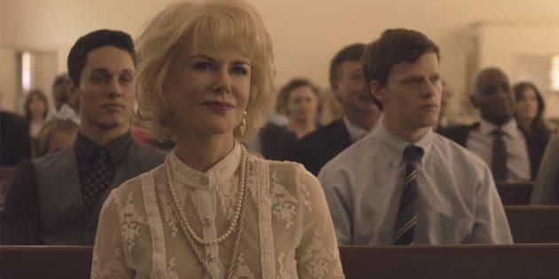 """Nicole Kidman interpreta Nancy, mãe religiosa que coloca o filho em uma terapia intensiva que promete a """"cura gay""""."""