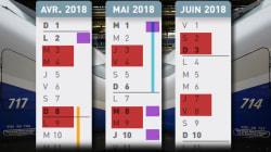 Notre calendrier pour, en un coup d'œil, organiser vos déplacements en fonction des jours de grève, des vacances et des jours