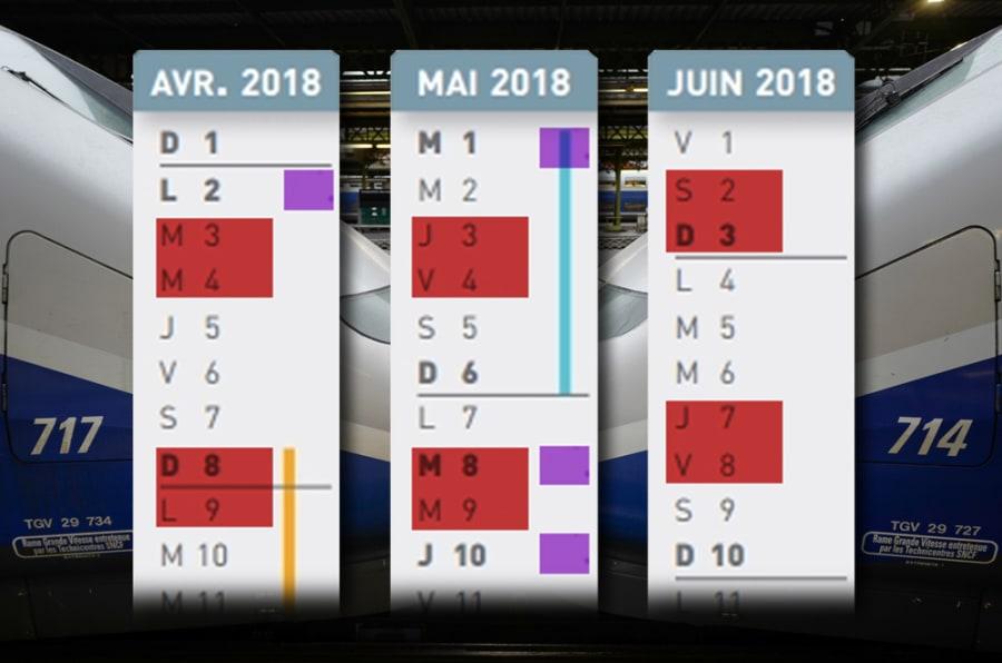 Calendrier de la grève SNCF: le schéma complet pour organiser vos vacances entre avril et juin