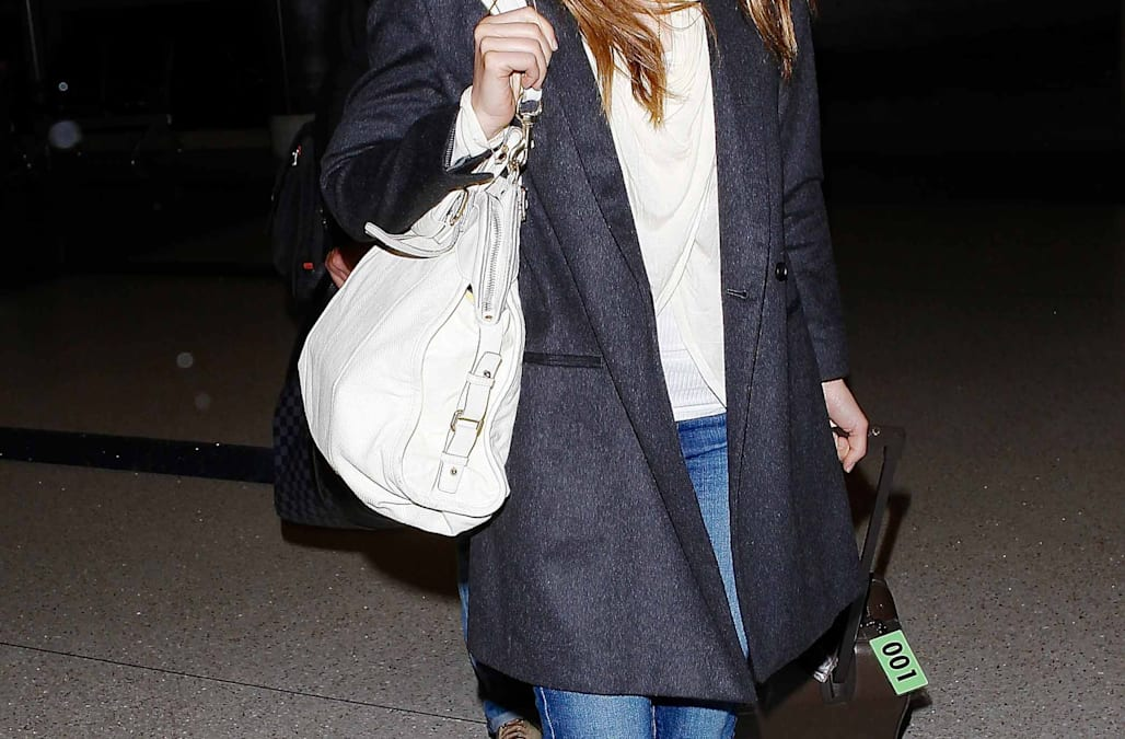 Get The Look For Less Jessica Biel S Chic Menswear Coat Aol News