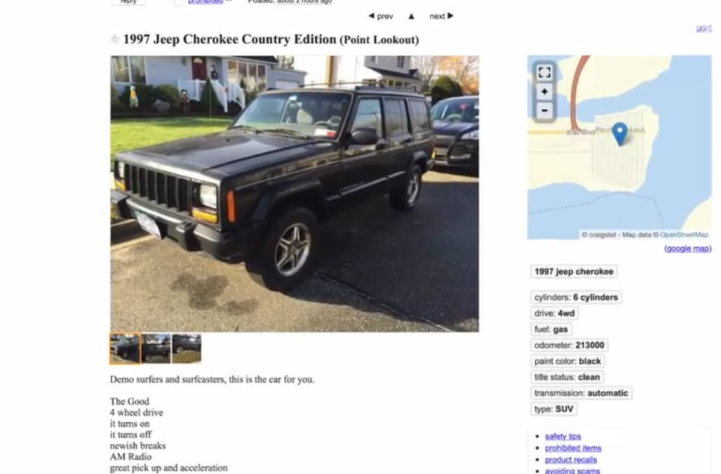 Craigslist Ad For 97 Jeep Is Brutally Honest Aol Finance