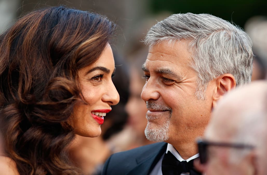 George and Amal Clooney welcome twins Ella and Alexander - AOL